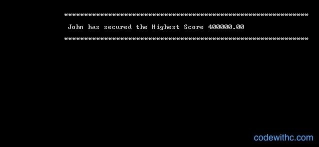 Quiz Game Highest Score