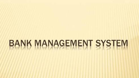 Mini Project in C Bank Management System