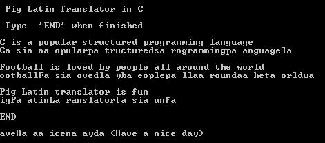 Pig Latin Code