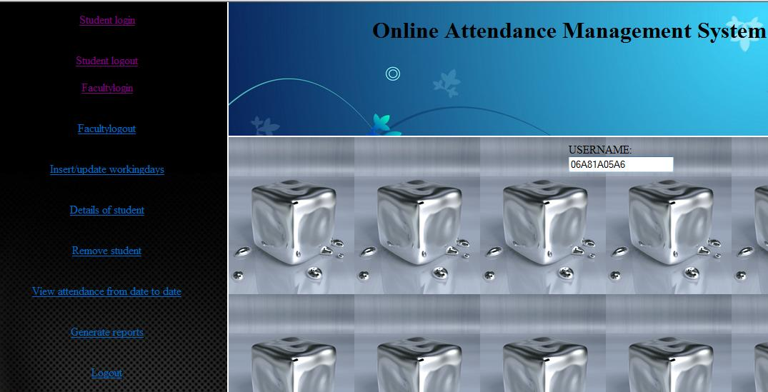 online attendance management system java project