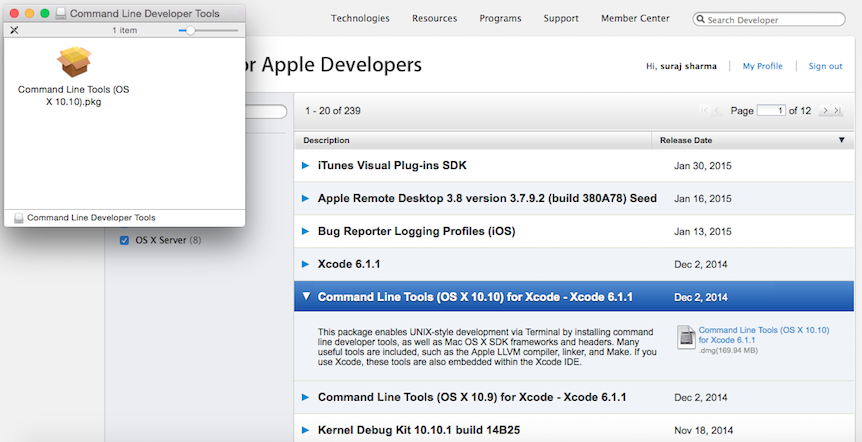Install CodeBlocks on Mac - Download Command Line Tools