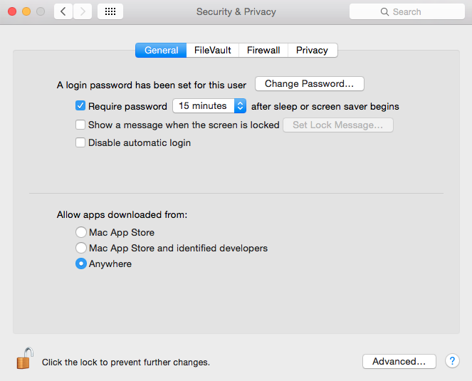 Install CodeBlocks on Mac - System Preferences