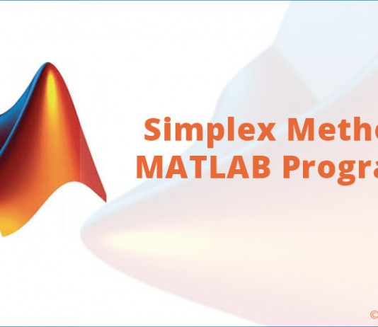Simplex Method MATLAB Program