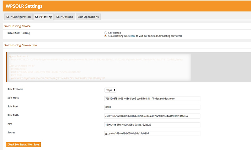 Replace Solr Search with WordPress