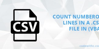 How to count number of lines in a .CSV file in Visual Basic for Applications (VBA)