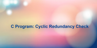 C Program: Cyclic Redundancy Check