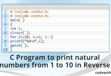 c-program-print-natural-numbers-1-10-reverse