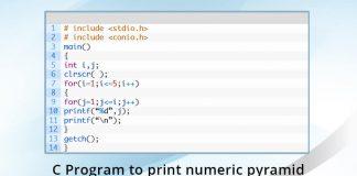 c-program-print-numeric-pyramid