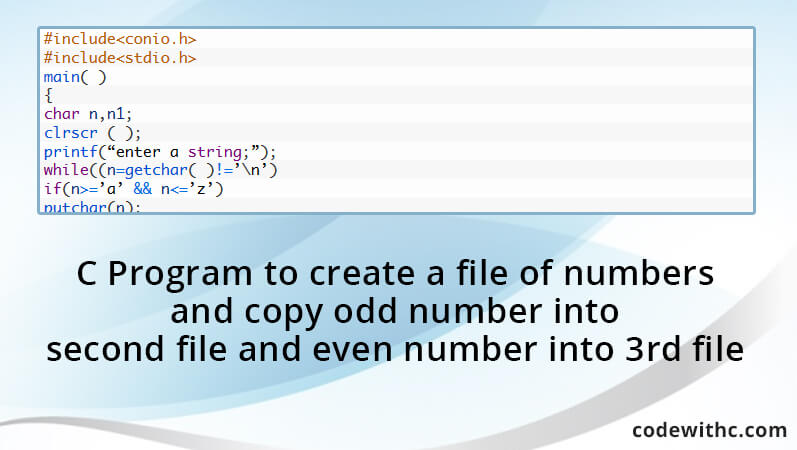write a c program for file operations