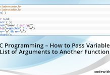 C programming - How to Pass Variable List of Arguments to Another Function