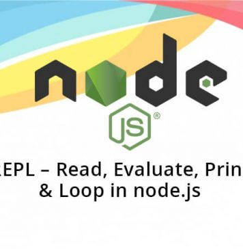 REPL - Read, Evaluate, Print & Loop in node.js
