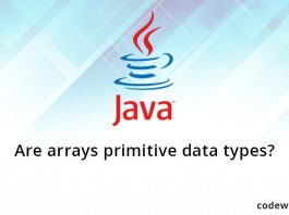 Are arrays primitive data types?