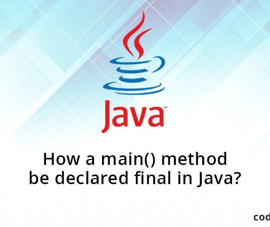 How a main() method be declared final in Java?