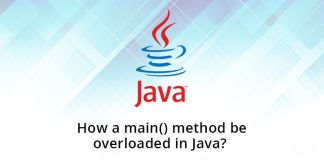 How a main() method be overloaded in Java?