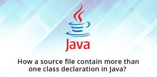 How a source file contain more than one class declaration in Java?