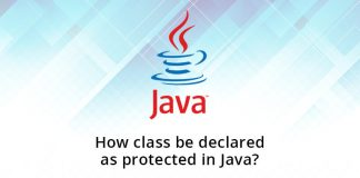 How class be declared as protected in Java?