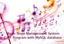 Music Store Management System C++ Program with MySQL database