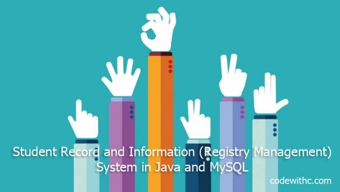 Java Project with MySQL Student Record and Information (Registry-Management) System