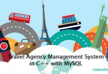 Travel Agency Management System in C++ with MySQL