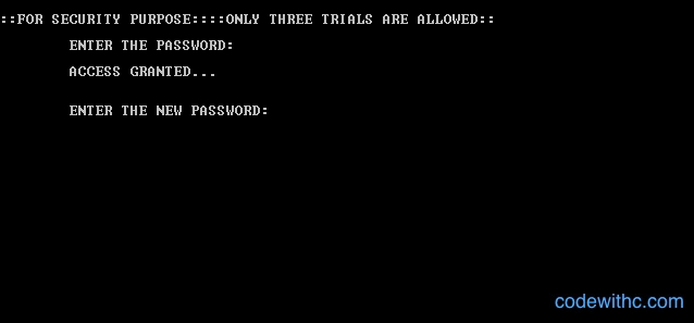 Password for Personal Diary Management System