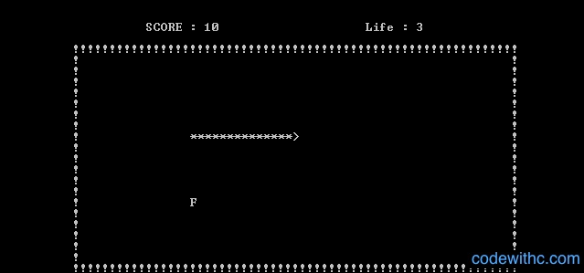 Mini Project in C Snake Game