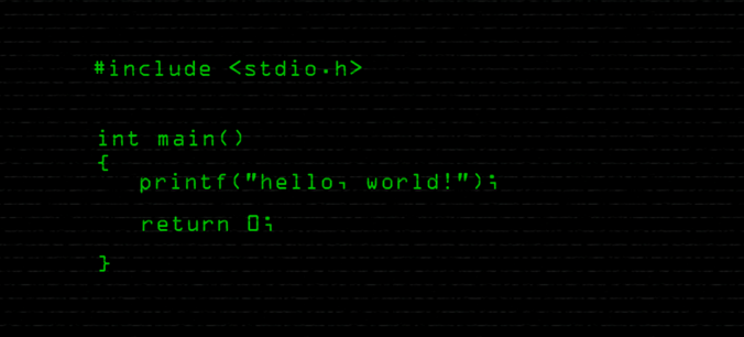 Writing a Program in C to Print Hellp World