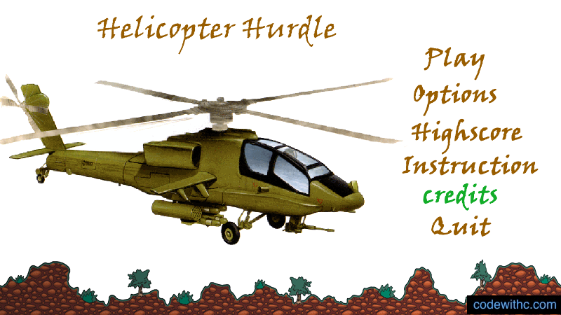 Helicopter game in C++
