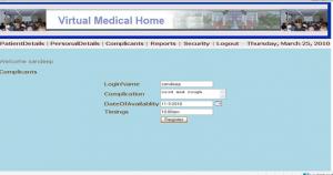 Online Medical Management System Project - Patient Log in
