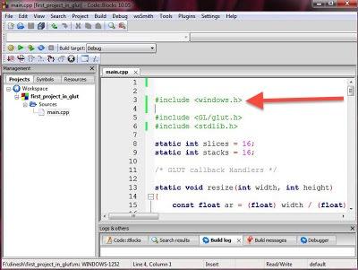 How to set up OpenGL (GLUT) in CodeBlocks