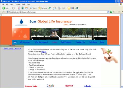 Life Insurance Management System Project ASP.NET