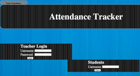 attendance tracker system php project code with c