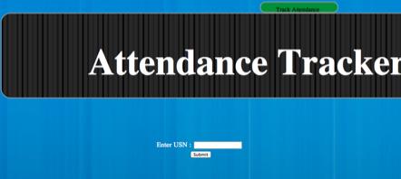 attendance tracker system