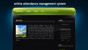 Online Attendance Management System Project in Java
