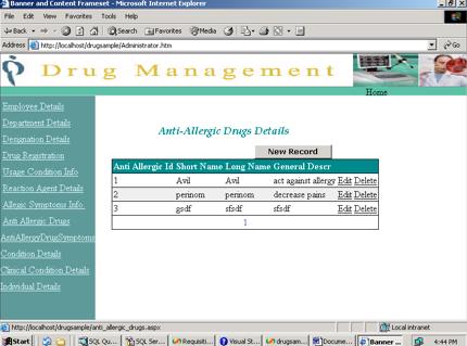 Drug Management System Project in ASP.NET