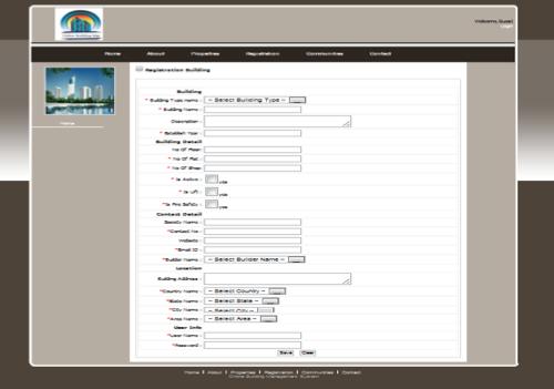 Online Building Management System Project ASP.NET