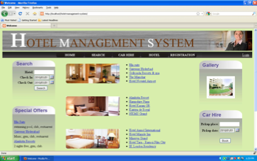Online Hotel Management System Project