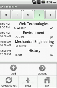 Class Timetable Android Project