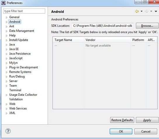 How to Setup Android Application Development on Eclipse