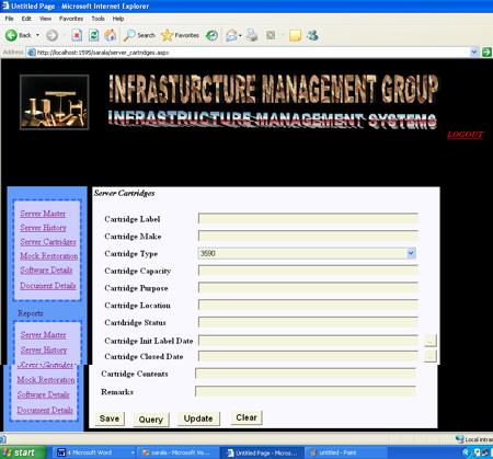 Server Cartridges in Infrastructure Management