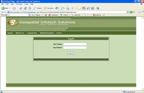 Log in Page of Online Tax Information System