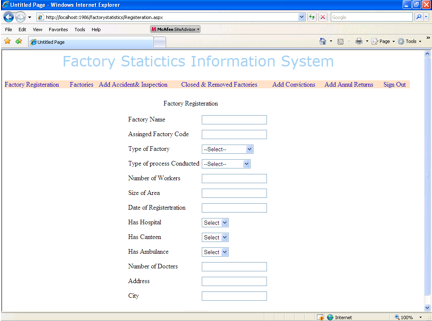 Factory Information Management - Registration