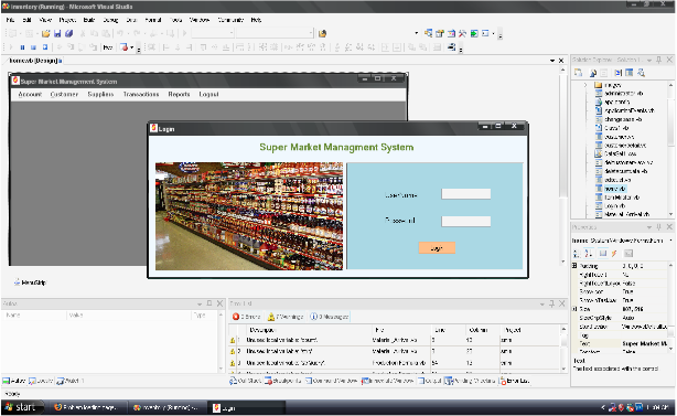 Supermarket Management System VB.NET - Log in Page