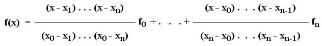 Lagrange Interpolation in MATLAB - Derivation from Divided Difference