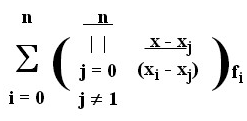 Lagrange Interpolation MATLAB Code - Divided Difference Derivation