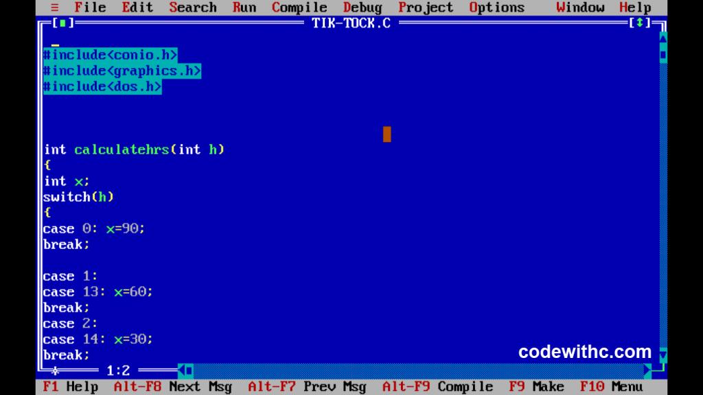 c-program-analogue-clock-using-c-graphics1