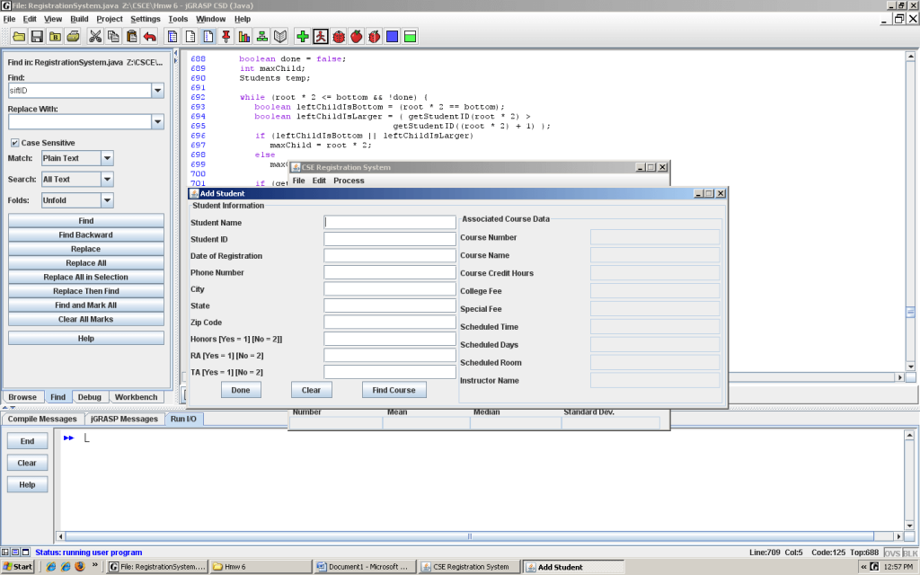 Java Project: Student Registration System | Code with C