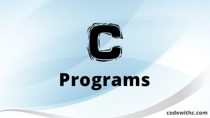 Learn C Programming With CodeWithC.com
