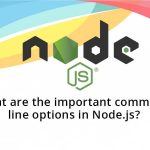 What are the important command line options in Node.js?