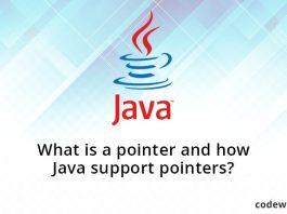What is a pointer and how Java support pointers?