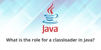 What is the role for a classloader in Java?